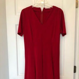 T Tahari red dress